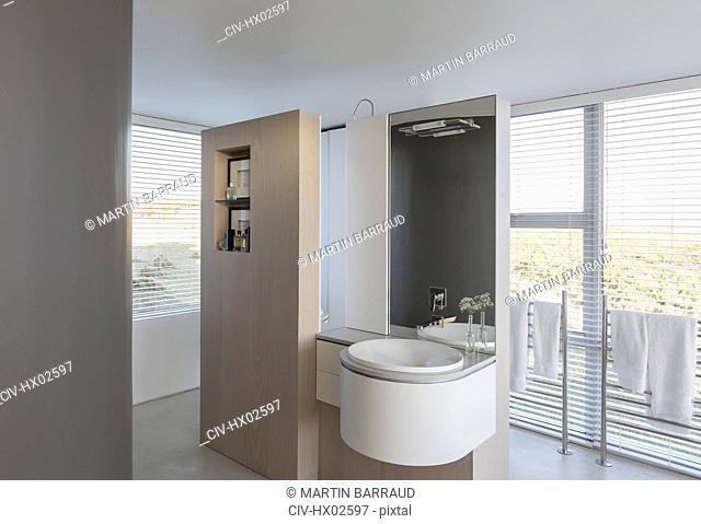 Modern luxury home showcase interior bathroom sink