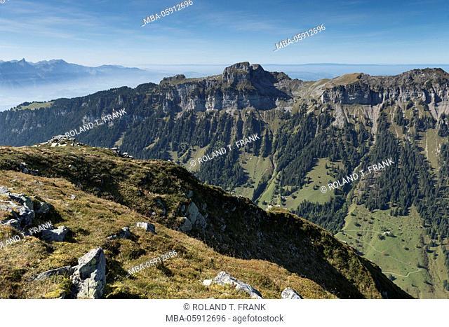 Europe, Switzerland, view from the Burgfeldstand to north-west
