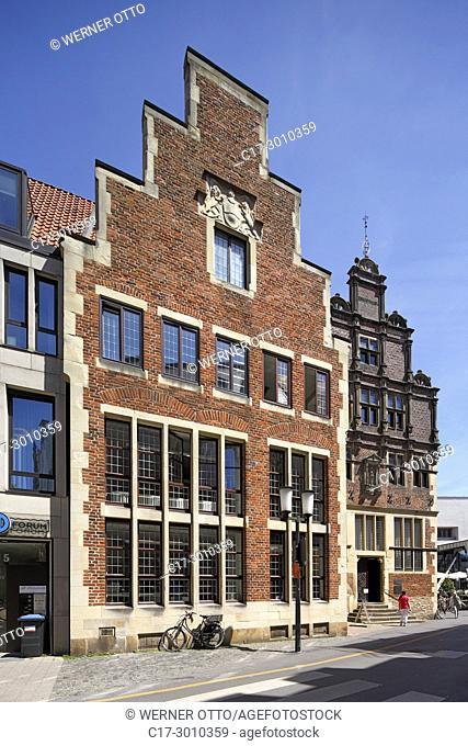 Muenster (Westfalen), D-Muenster, Westphalia, Muensterland, North Rhine-Westphalia, NRW, Krameramt House, House of the Netherlands, brick building