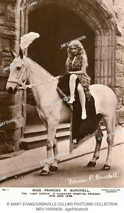 Miss Frances P. Burchell in the role of Lady Godiva at the Coventry Hospital Pageant - 27th June 1936