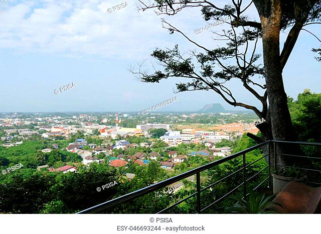 view of Phatthalung city in southern part of Thailand