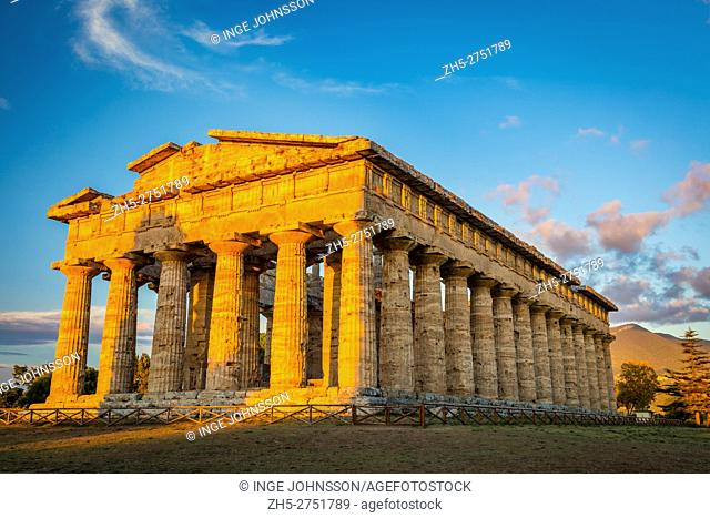 Paestum was a major ancient Greek city on the coast of the Tyrrhenian Sea in Magna Graecia (southern Italy). The ruins of Paestum are famous for their three...