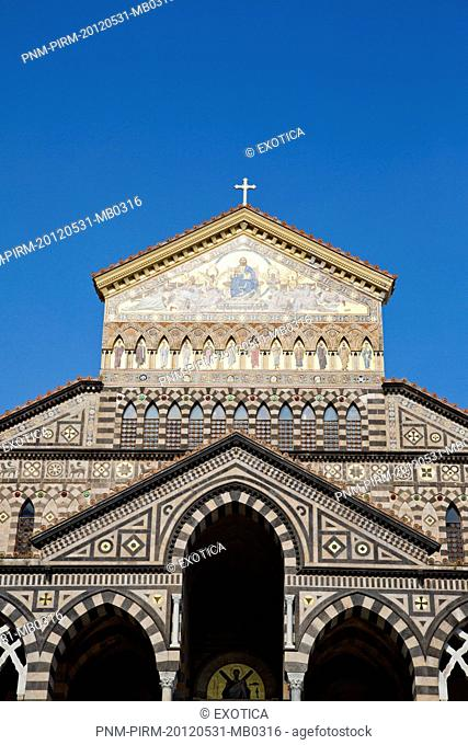 Low angle view of a cathedral, Amalfi Duomo, Amalfi, Province of Salerno, Campania, Italy