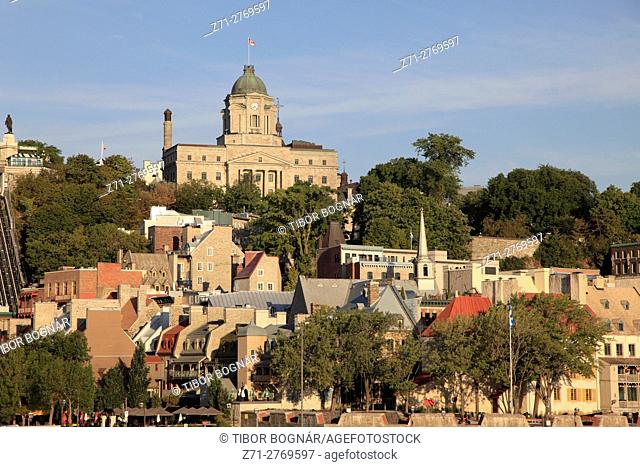 Canada, Quebec City, lower town, skyline, general view,