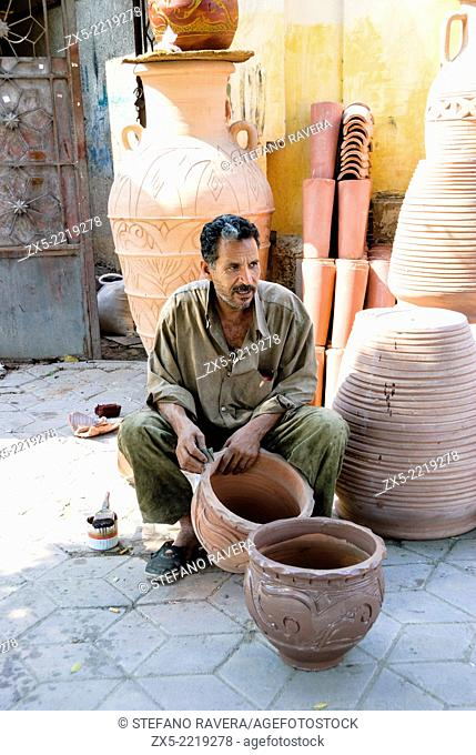 Potter in the coptic area of Cairo - Lower Egypt