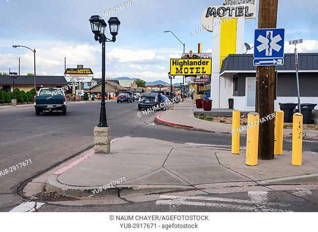 Main street, City of Williams, Arizona, USA