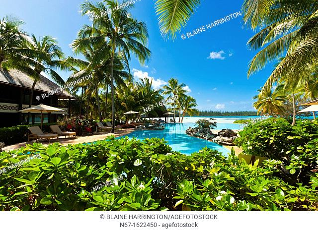 The Le Meridien Isle of Pines beach resort hotel, Baie d'Oro Oro Bay, Ile des Pins Isle of Pines, New Caledonia