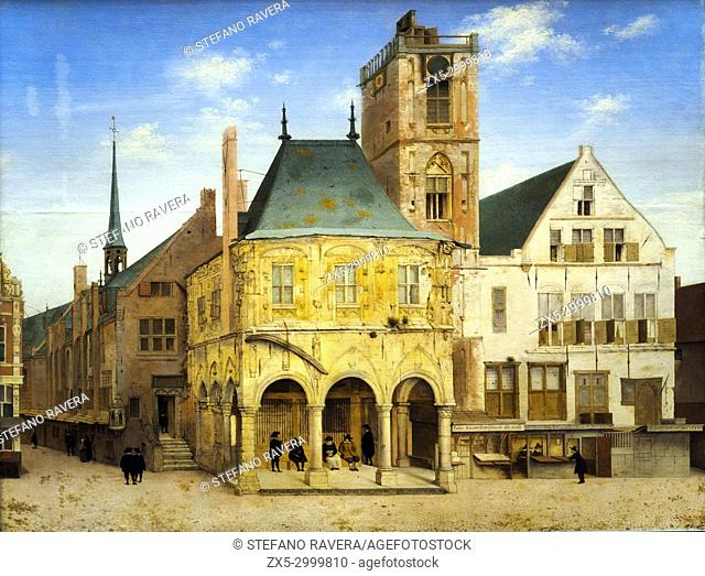 The Old Town Hall of Amsterdam. Pieter Jansz Saenredam (1597-1665). Oil on panel, 1657