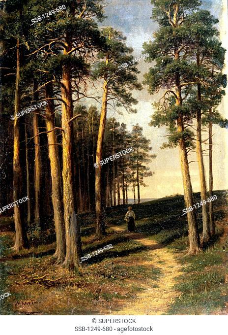 Piney Woods by Michael Klodt von Jurgensburg, 1832-1902, Russia, Vologda, Vologda Regional Art Gallery