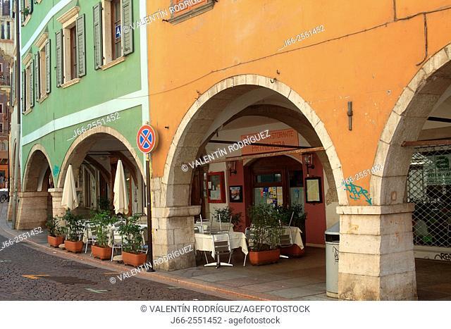 Street Via del Suffragio. Trento. Italy