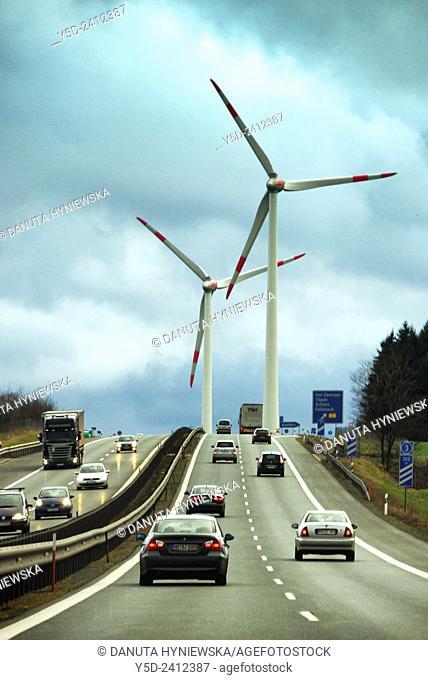 highway near Hof, Upper Franconia, Bavaria, Germany