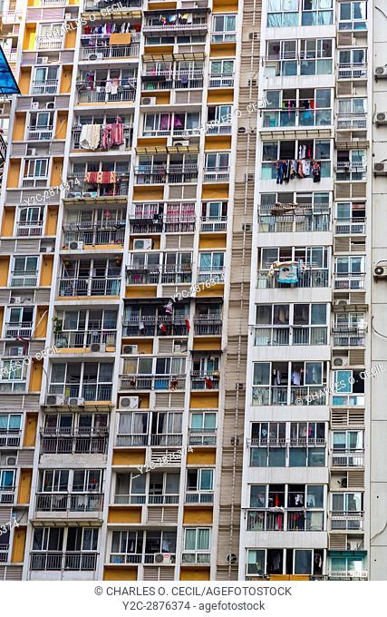 Wenzhou, Zhejiang, China. High-rise Apartment Building