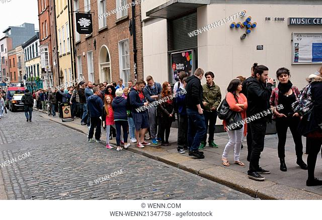 Hundreds of wannabe hairy marauders queue around the block in Temple Bar for extras auditions for in the hit 'Vikings' TV series 3 at Filmbase.