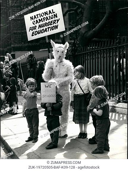 May 05, 1972 - National Campaign For Nursery Education Present Petitions: Today members of the National Campaign for Nursery Education held a demonstration when...