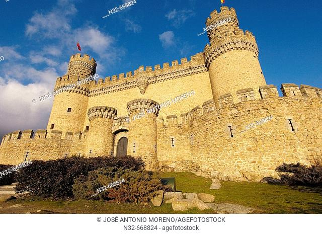 Castle of Manzanares el Real. Madrid. Spain