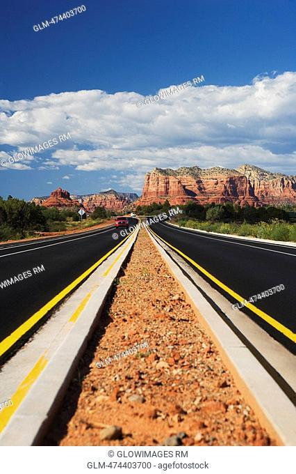 Road passing through a landscape, Sedona, Arizona, USA