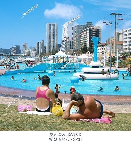 Swimmingpool, Durban, South-Africa