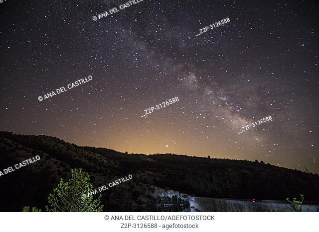 Night sky in Teruel province Aragon Spain