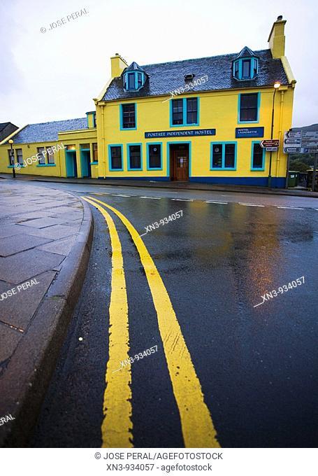 Portree Hostel in Portree. Skye island. Inner Hebrides. Scotland. UK