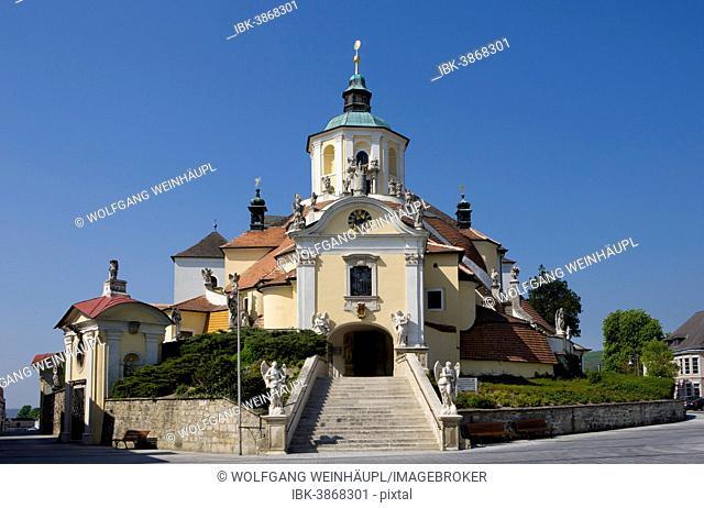 Calvary with Haydenkirche, Hayden Church or Mountain Church, pilgrimage church, Eisenstadt, Burgenland, Austria