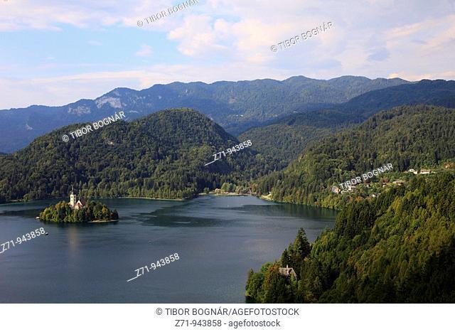 Slovenia, Bled, Lake, Island, Church of the Assumption