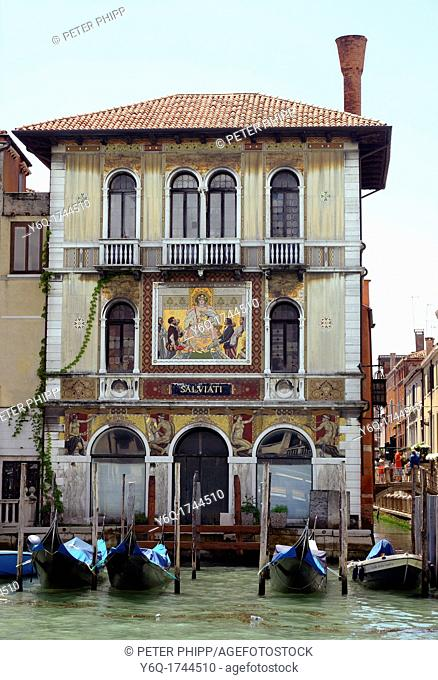Beautifully decorated Building on the Grand Canal in Venice Italy