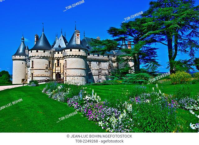 france, loire castles : chaumont castle, outside
