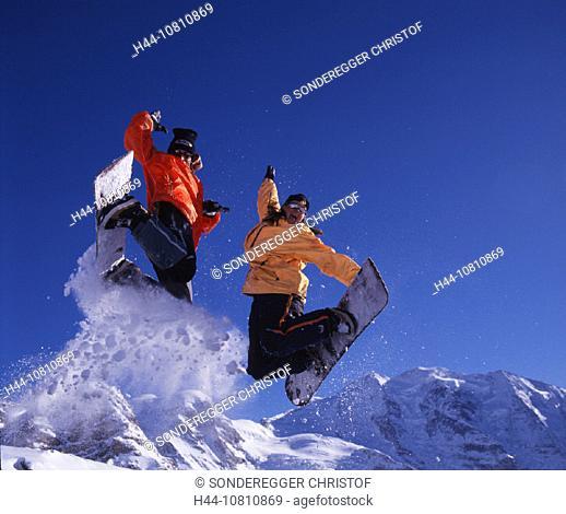 action, adventure, Alps, Bernina, Piz Bernina region, Engadin, glacier, Grisons, Graubunden, ice, Jump, jump, morain