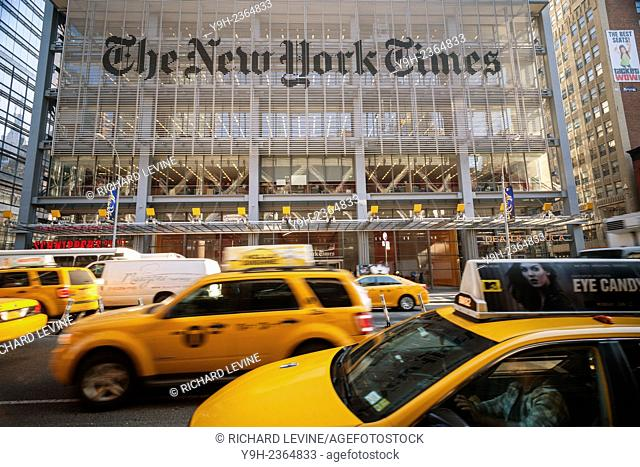 The offices of the the New York Times media empire in Midtown in New York