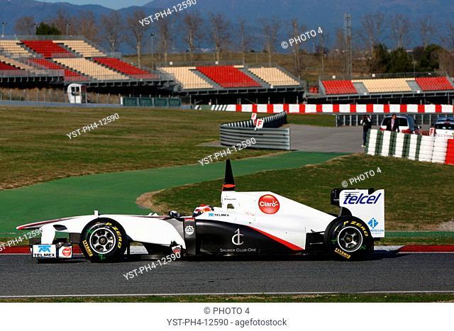 Racing, Kamui Kobayashi, Testing, Barcelona, Espanha