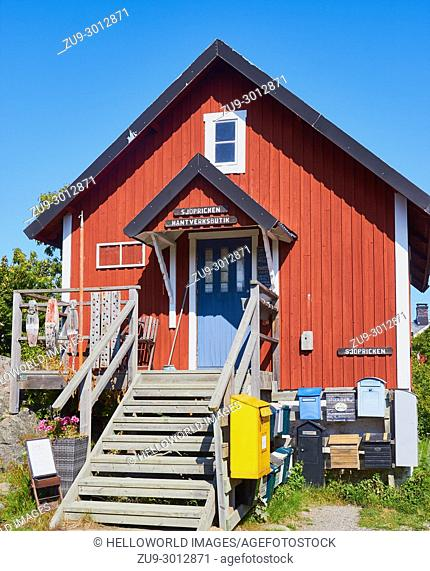 Handicratfs store on the island of Oja (Landsort), the southernmost point in the Stockholm archipelago, Sweden, Scandinavia