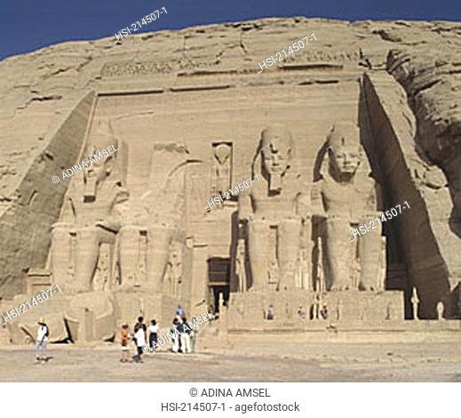 travel, Africa, Egypt, Abu Simbel, Temple of Rameses II, pharoah, Nubia, temple, Rameses II, ruin, tomb, statue, structure, stone, monument, places of interest