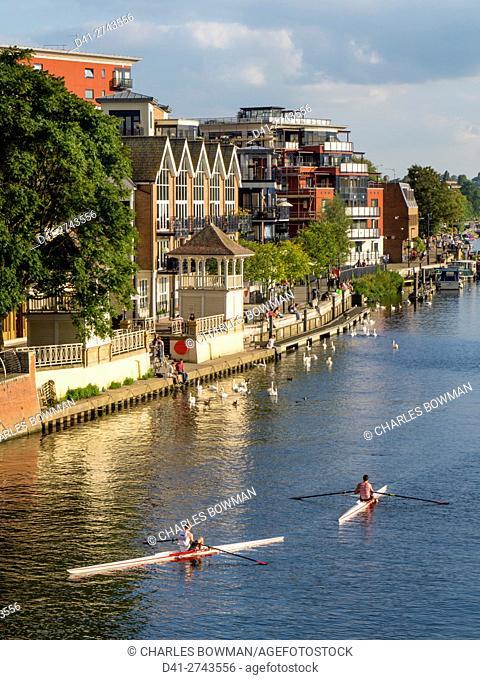 UK, England, Surrey, Kingston upon Thames river scene