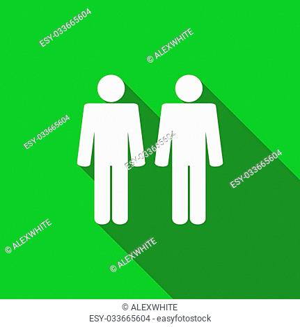 couple flat icon people sign team symbol