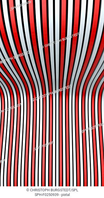 Wavy lines, abstract illustration