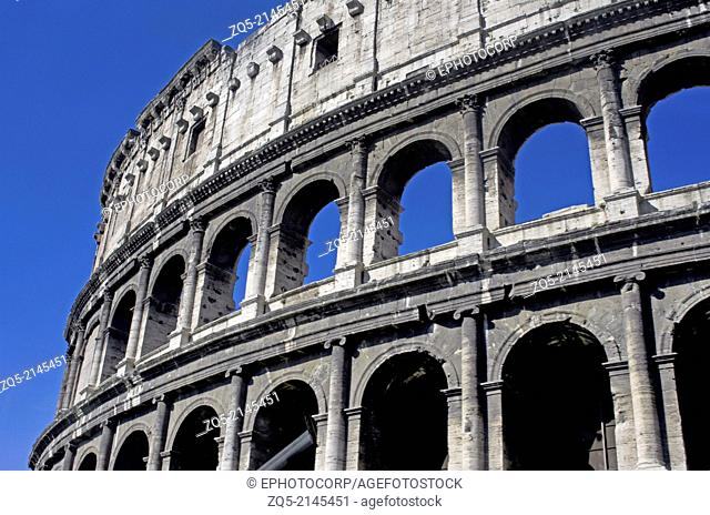 The Colosseum or Coliseum, also known as the Flavian Amphitheatre, Rome, Italy