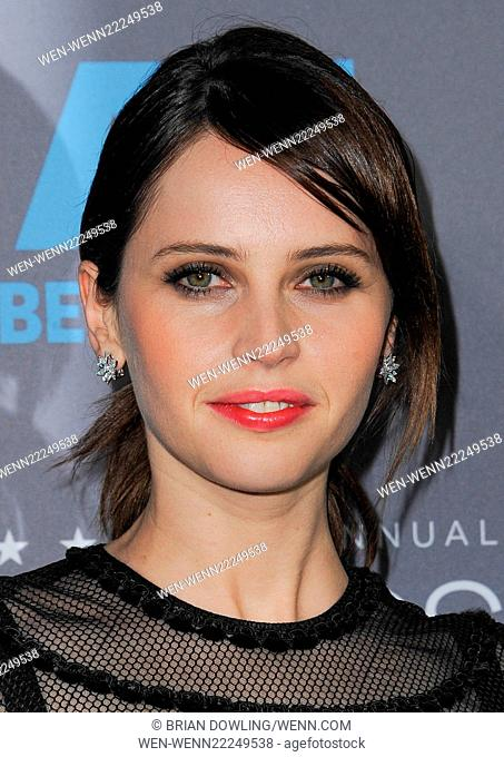 The 20th Annual Critics' Choice Movie Awards at the Hollywood Palladium on January 15, 2015 in Los Angeles, California. Featuring: Felicity Jones Where:...