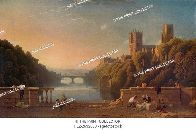 'Durham Cathedral from the Prebends' Bridge', c1832. Artist: George Fennell Robson