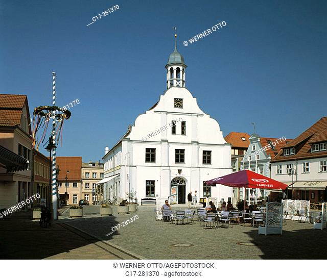 City Hall, Marktplatz, Wolgast, Mecklenburg-Western Pomerania, Germany