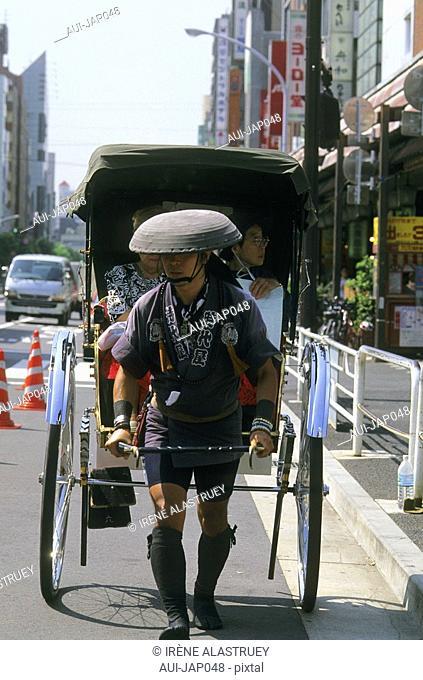 Japan - Tokyo - Asakusa District - Senso Ji Temple - Rickshaw