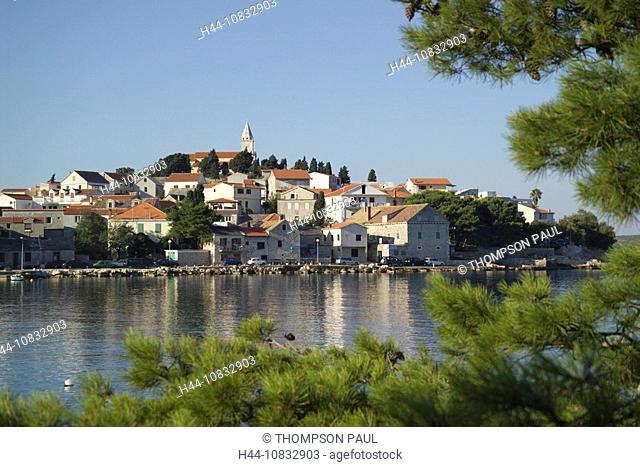 Croatia, Europe, Primosten, Dalmatia, Europe, town, Eastern Europe, Balkans, Resort, Dalmatian coast, coastline, line