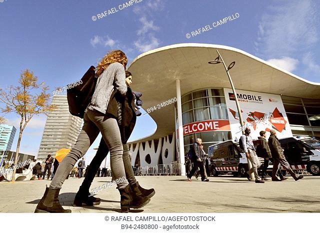 Mobile World Congress. Fira de Barcelona. Gran Via avenue, Av. Joan Carles I, 64. Hospitalet de Llobregat. Architect: Toyo Ito. Barcelona. Catalonia