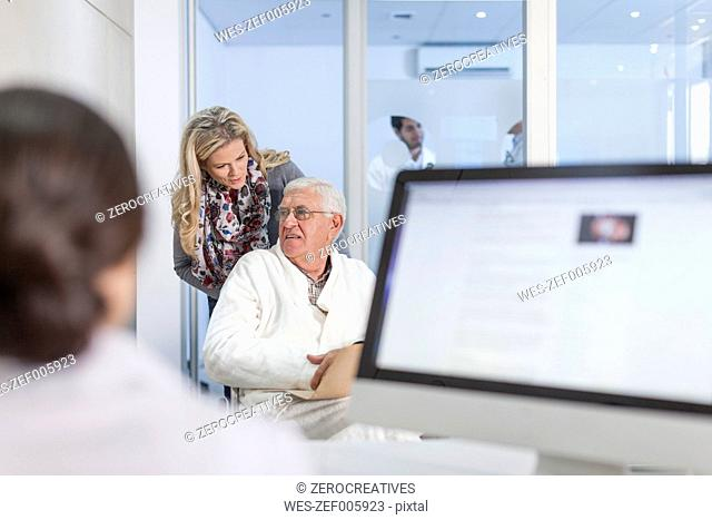 Patients at clinic reception