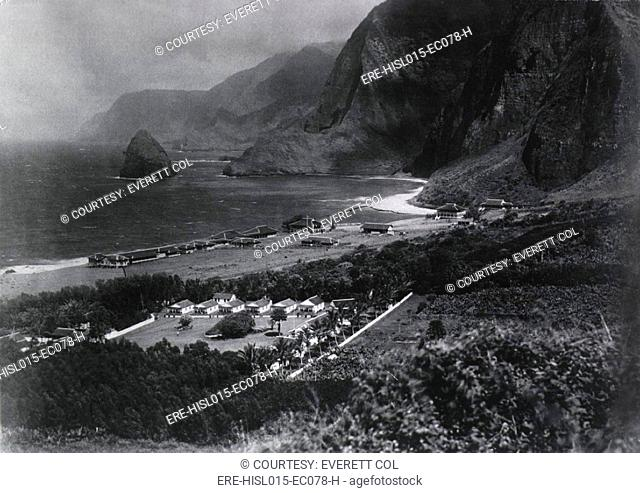 Leper Colony. The Kalawao Settlement, on the small Hawaiian island of Molokai, was established in 1866 as the first isolation settlement for Lepers