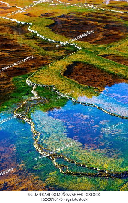 Río Tinto - Red River, Sierra Morena, Gulf of Cádiz, Huelva, Andalucia, Spain, Europe