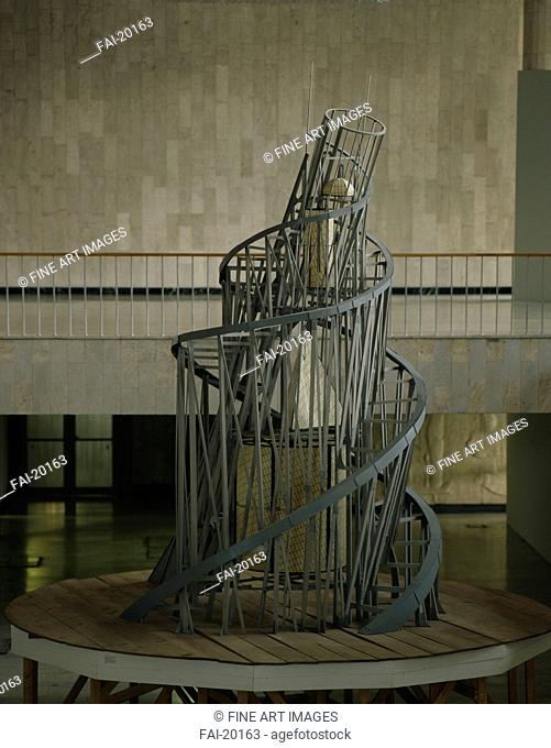 The Monument to the Third International. Tatlin, Vladimir Evgraphovich (1885-1953). Wood, metal. Constructivism. 1917. Russia