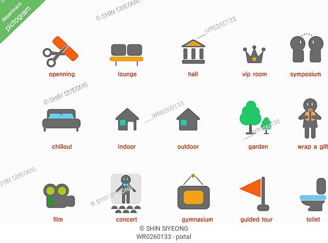 various department pictogram icons