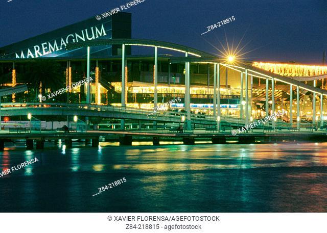 Rambla de Mar. Maremagnum. Port Vell. Barcelona. Spain