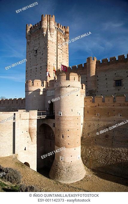 ancient castle named La Mota in Medina del Campo city in Valladolid spain