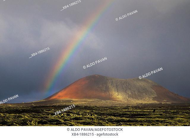 Rainbow, La Vegueta, Lanzarote, Canary Islands, Spain